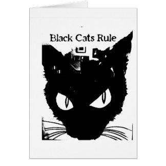 Carte Règle de chats noirs