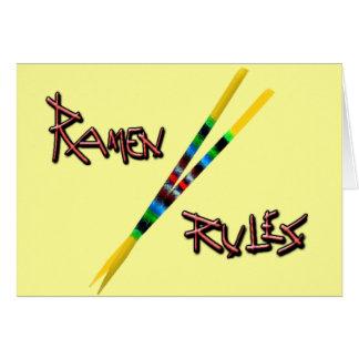 Carte Règles de Ramen