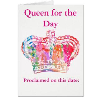 Carte Reine d'anniversaire