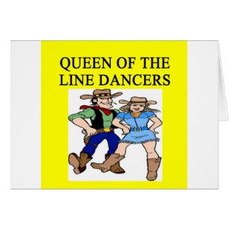 Carte reine de ligne danse
