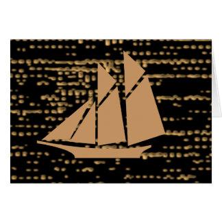 Carte Reine de nuit - aventure d'or de voile par nuit