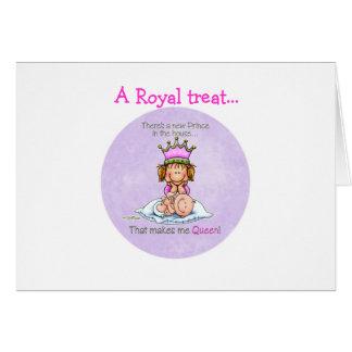 Carte Reine de prince - grande soeur
