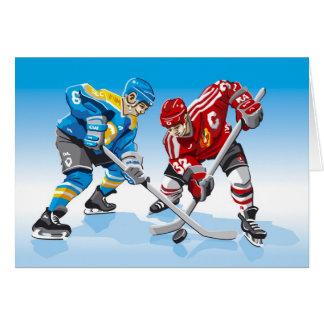 Carte Remise en jeu de joueur de hockey de glace de