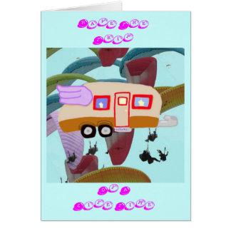 Carte Remorque de voyage avec des parapentistes