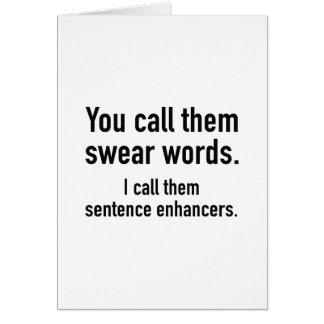 Carte Renforceurs de phrase