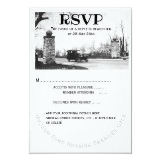 Carte Réponse d'invité des années '20 RSVP d'hurlement