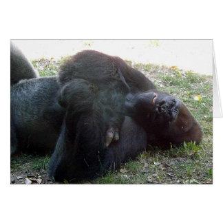 Carte Repos de beauté de gorille de plaine de sommeil