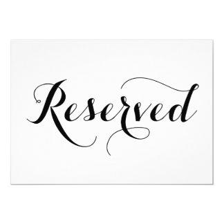 Carte réservée moderne de signe de mariage de la carton d'invitation  12,7 cm x 17,78 cm