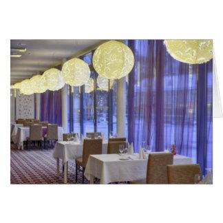 Carte Restaurant dans l'hôtel