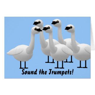 Carte Retentissez l'anniversaire de trompettes