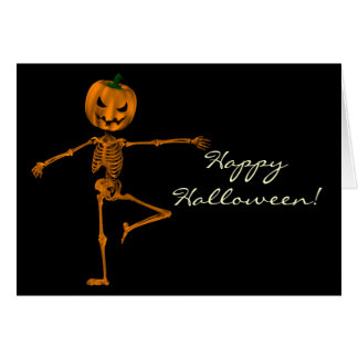 Carte Retirez le squelette de Halloween de position de