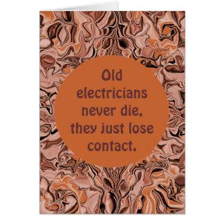 Carte retraite d'électricien