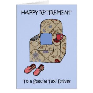 Carte Retraite heureuse de chauffeur de taxi