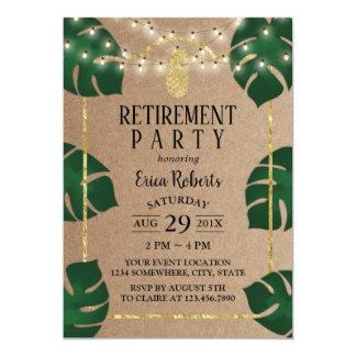 Carte Retraite tropicale rustique de Luau d'ananas d'or