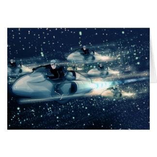 Carte Rétro croiseur de l'espace - la course
