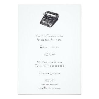 Carte Rétro machine à écrire silencieuse de luxe