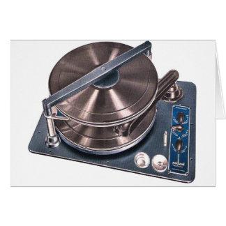 Carte Rétro phonographe vintage Paillard de plaque