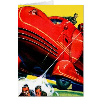 Carte Rétro répression des émeutes vintage de Sci fi 30s