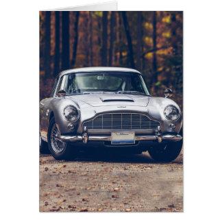 Carte Rétro vintage de voiture classique, argent
