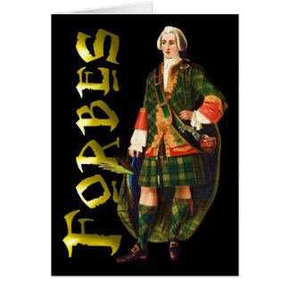 Carte Rêve de montagne de Forbes de clan