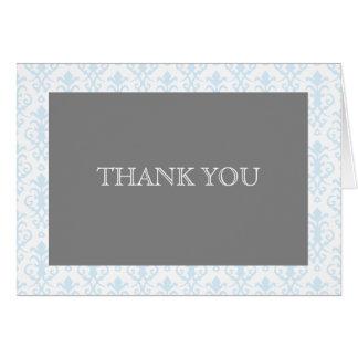 Carte Rêves doux dans la note bleue de Merci de damassé