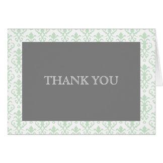 Carte Rêves doux dans la note verte de Merci de damassé