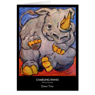 Carte Rhinocéros de remplissage