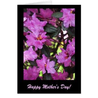 Carte Rhododendrons pour le jour de mère