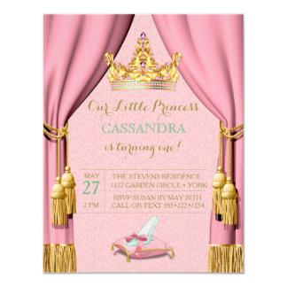Carte Rideaux roses en princesse Tiara Glass Slipper
