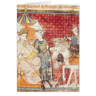 Carte Roland offrant l'adieu à Charlemagne