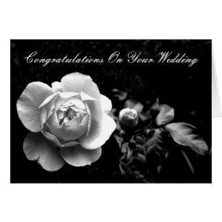 Carte Rose blanc, félicitations sur votre mariage