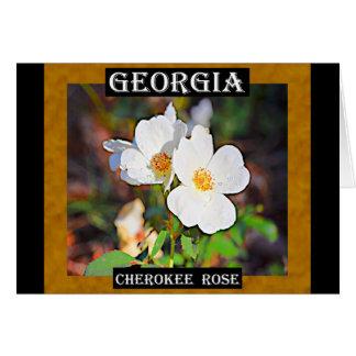 Carte Rose cherokee de la Géorgie