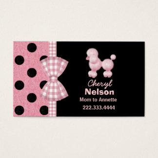 Carte rose chic de maman de caniche