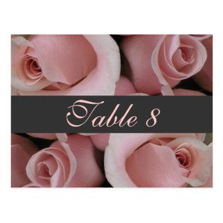 Carte rose de nombre de Tableau de roses