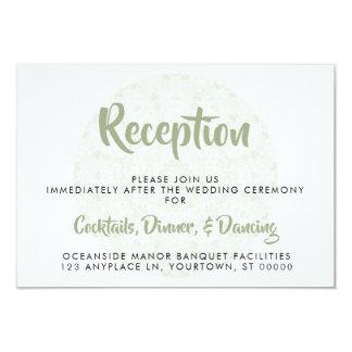 Carte rose de réception de mariage de mandala