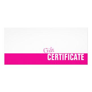 Carte rose et blanche simple simple de cartons d'informations  10 cm x 22,9 cm