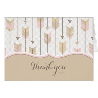 Carte Rose tribal de Tan de Merci de baby shower de