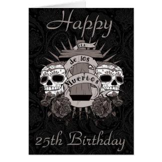 Carte Roses de croix de crâne de Dia De Los Muertos