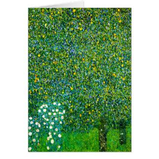 Carte Roses de Gustav Klimt sous le poirier