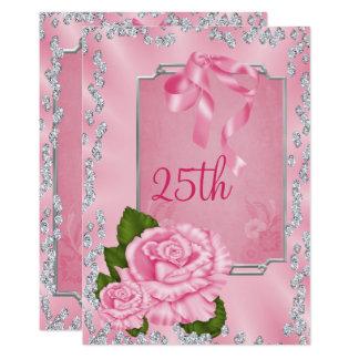 Carte Roses et arcs romantiques élégants 25ème