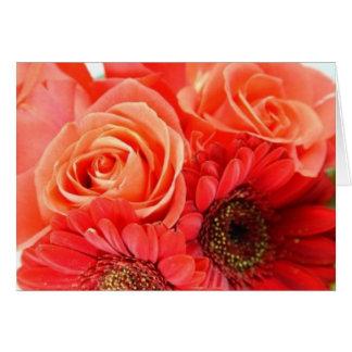 Carte Roses oranges