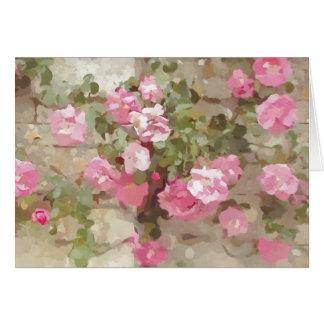 Carte Roses pour aquarelle floraux d'escalade de rose