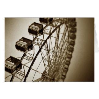 Carte Roue de Ferris vintage