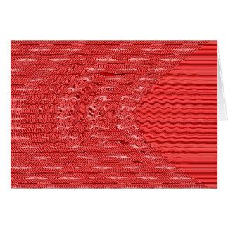 Carte rouge de vague