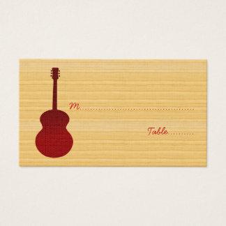 Carte rouge d'endroit de guitare de pays
