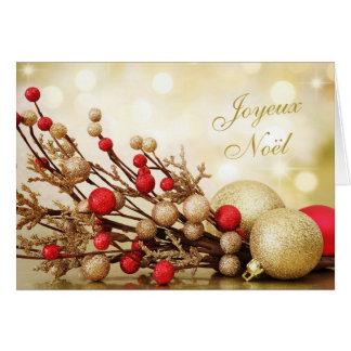 Carte Rouge et Noël de Français de Joyeux Noël de