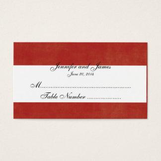 Carte rouge faite sur commande d'endroit de