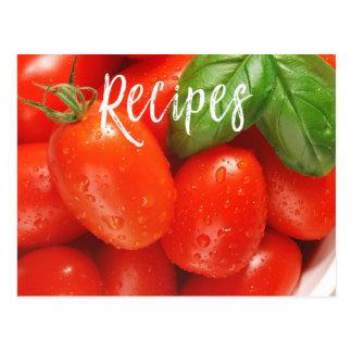Carte rouge juteuse de recette de tomate