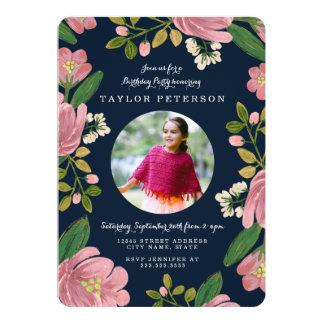 Carte Rougissent l'anniversaire de bouquet