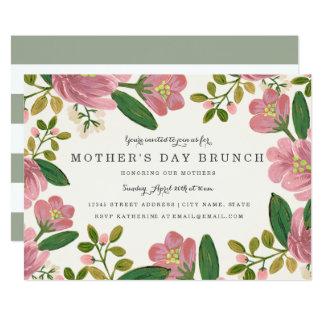 Carte Rougissent le brunch du jour de mère de bouquet